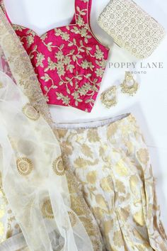 Unique Blouses, Sarees and Lenghas that embody the vibrancy of South Asian fashion with a modest up to date western flair. Lehnga Dress, Lehenga Blouse, Lehenga Choli, Pakistani Dresses, Indian Dresses, Indian Clothes, Indian Attire, Indian Wear, Indian Look