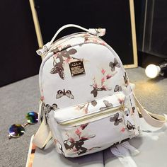Cheap backpack belt, Buy Quality backpack fishing directly from China backpack camping Suppliers: Women Backpack 2016 Hot Sale Fashion Causal High Quality Floral Printing PU Leather Backpacks For Girls,mochila Leather Backpacks For Girls, Girly Backpacks, Cute Mini Backpacks, Stylish Backpacks, Fashion Bags, Fashion Backpack, Sacs Design, Girls Bags, Cute Bags