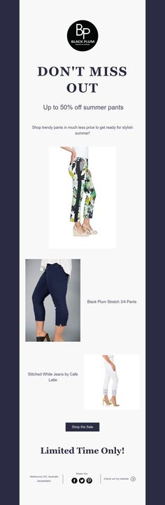 Up to off summer pants Black Plum, Summer Pants, White Jeans, Stitch, Clothes For Women, Stylish, Shopping, Outerwear Women, Full Stop