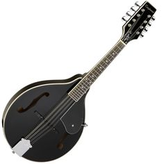 The Tanglewood TML BK Matt Black 8-String Mandolin, featuring Mahogany Back And Sides, Mahogany Neck, Rosewood Fingerboard, Matt Black finish.