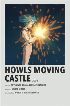 Howl's Moving Castle Movie, Howls Moving Castle, Studio Ghibli Poster, Studio Ghibli Movies, Animes To Watch, Anime Watch, Poster Anime, Anime Titles, M Anime