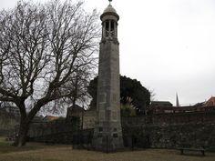 The Mayflower Monument, Southampton, England.