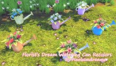 Florist's Dream Watering Can Recolors at Pixelsimdreams via Sims 4 Updates