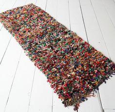 Boucherouite rug runner ''Flower power 25  7'2 x by ElRamlaHamra