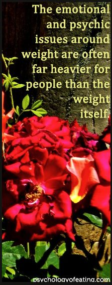 The emotional and psychic issues around weight are often far heavier than the weight itself. #weight #eatingpsych #IPE
