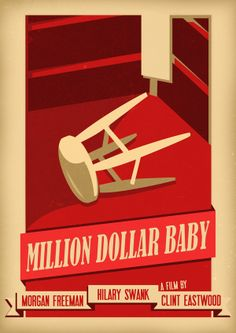 Million Dollar Baby (2004) - Minimal Movie Poster by criscrascrus ~ #minimalmovieposter #alternativemovieposter #criscrascrus