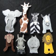 storyteller finger puppet safari african animal set