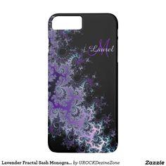 Lavender Fractal Sash Monogram #iPhone 7 Case  #zazzle