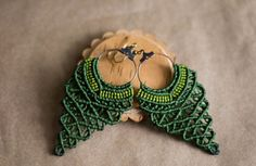 Green Grape Shaped Macrame Earrings by paprikaGoodies on Etsy, $12.00