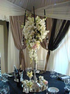 Orchids theme - arrangements Orchids, Events, Weddings, Table Decorations, Group, Furniture, Home Decor, Decoration Home, Room Decor