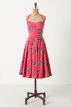 Akebono Halter Dress #anthropologie
