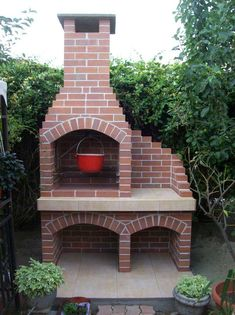 Outdoor Barbeque, Outdoor Oven, Outdoor Dining, Outdoor Decor, Brick Built Bbq, Brick Grill, Barbecue Design, Grill Design, Parrilla Exterior