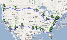 cross country road trip! ...this is basically the same trip my family took 8 years ago...wow!