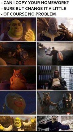 Marvel Jokes, Avengers Humor, Funny Marvel Memes, Crazy Funny Memes, Really Funny Memes, Stupid Funny Memes, Funny Relatable Memes, Funniest Memes, Marvel Avengers