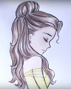 Here's how to draw Disney Princess Belle's hair! #HTD