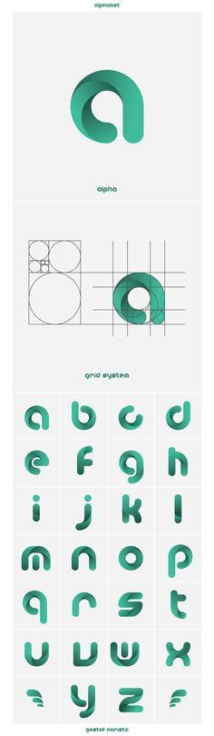 Typographie reprenant basée sur la multiplication des cercles.
