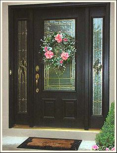 Like this black front door and glass.