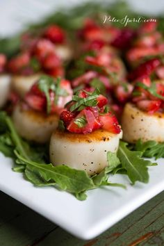 Pan-Seared Scallops with Strawberry Relish
