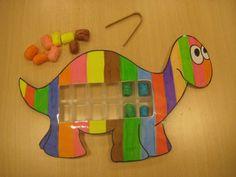 Preschool Montessori Toys Making - Preschool Children Akctivitiys Dinosaurs Preschool, Dinosaur Activities, Gross Motor Activities, Color Activities, Educational Activities For Preschoolers, Educational Toys, Baby An Bord, Dino Craft, Mixed Up Chameleon