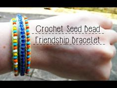 DIY Crochet Seed Bead Friendship Bracelet ¦ The Corner of Craft - YouTube