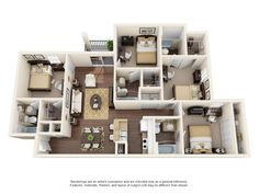 4 bed bath b deluxe room plaza on uc foundation apartments housing and floor plans northgate lakes orlandoApartments In Orlando[. 3d House Plans, House Plans Mansion, Model House Plan, House Layout Plans, House Layouts, 4 Bedroom House Designs, Home Room Design, Home Design Plans, Floor Plan 4 Bedroom