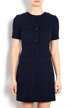Exclusive Sylvie Contrast Pocket Shift Dress by Goat