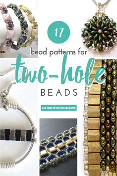 17 Bead Patterns for Two-Hole Beads | AllFreeJewelryMaking.com