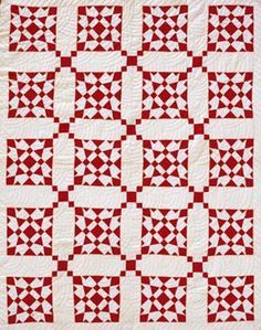 Blooming Lattice Downloadable Quilt Project - red and white quilt - $7.95