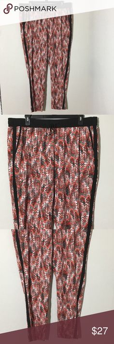 """NWOT Calvin Klein Snakeskin Pull On Harmen Pants New without tags Women's Calvin Klein red and black pull on Snakeskin print harem pants Sz 2X measurements 21"""" waist laying flat, 32"""" inseam. Calvin Klein Pants"""
