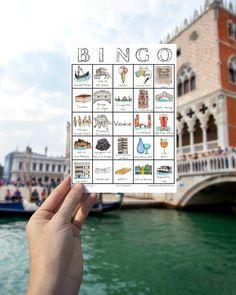PRINTABLE Venice Travel Bingo  Illustrated by SarahLambertCook