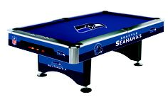 Seattle Seahawks Licensed Billiards Table with Team Logo Cloth (52-1024) from Imperial International