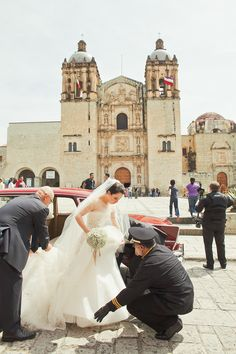 Gorgeous church in Oaxaca. Photography: Orange Turtle Photography - orangeturtlephotography.comRead More: http://stylemepretty.com/2013/10/10/oaxaca-mexico-wedding-from-orange-turtle-photography/