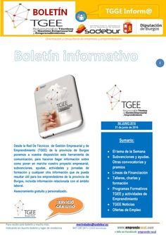 Boletín Red TGEE nº 36 Boletín de Emprendimiento y Gestión Empresarial