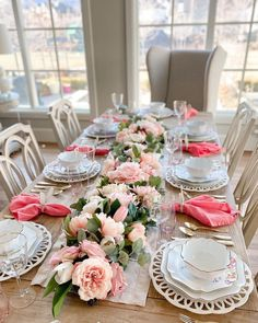 Dining Room Table Decor, A Table, Centerpieces, Table Decorations, Centerpiece Ideas, Butterfly Shape, Floral Garland, Linen Napkins, Cute Mugs