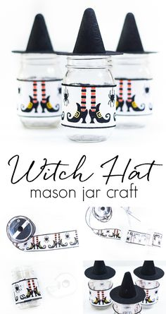 Witch Hat Mason Jars - Mason Jar Crafts Love