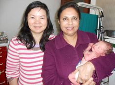 Dr.Rita Bakshi with George-Baloei who get her baby though surrogacy in India from International fertility centre
