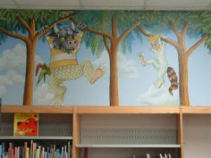 lots of library murals