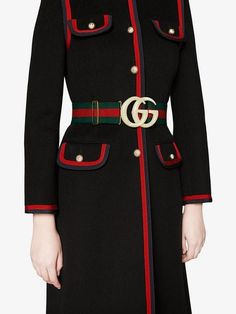 Gucci Elastic Web belt with Double G buckle Fashion 2020, Fashion Brands, Hijab Fashion, Fashion Dresses, Double G, School Uniform Fashion, Gucci Outfits, Gucci Dress, Mode Hijab