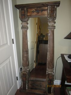 Full Length Mirror made from recycled Porch Posts