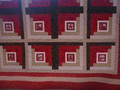 Log Cabin na toalha de Natal