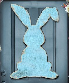 Another great find on #zulily! Blue Easter Bunny Door Hanger #zulilyfinds