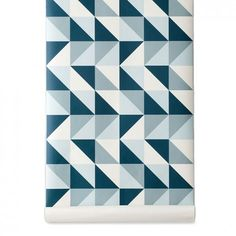 Ferm Living Remix Tapete Blau
