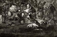 Francisco Goya, 'Absurdity Funeral' 1823 from the 'Disperate' series, Etching and Aquatint Francisco Goya, Spanish Painters, Spanish Artists, Art Ancien, Religious Paintings, Creepy Art, Art Database, Caravaggio, Romanticism