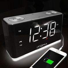 Itoma Cks507 Alarm Clock Radio With Fm Night Light Usb Charging