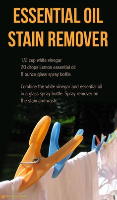 Essential oil stain remover recipe