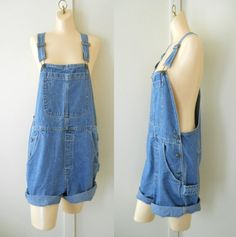 Women Overalls Denim Overall Shorts Women by TheVilleVintage, $39.99