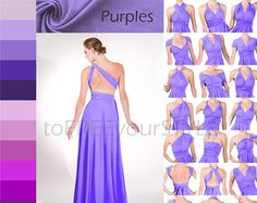 Long infinity dress in DEEP PURPLE matte FULL by toFREEyourSTYLE