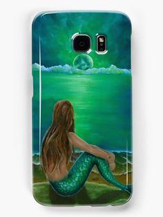 Galaxy Case,  mermaid,green,fantasy,cool,beautiful,unique,trendy,artistic,unusual,accessories,for sale,design,items,products,ideas,redbubble
