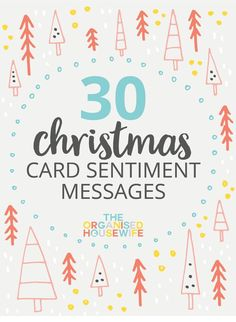 30+ CHRISTMAS CARD SENTIMENT MESSAGES