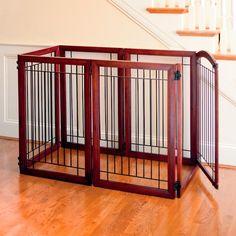 Six-panel Hardwood Pet Gate
